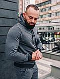 .Мужской осенний спортивный костюм Asos (dark grey), серый спортивный костюм, фото 5