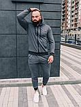 .Мужской осенний спортивный костюм Asos (dark grey), серый спортивный костюм, фото 3