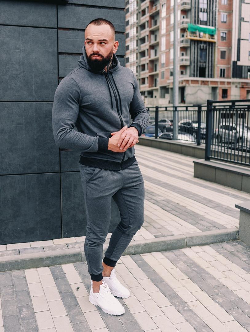 .Мужской осенний спортивный костюм Asos (dark grey), серый спортивный костюм