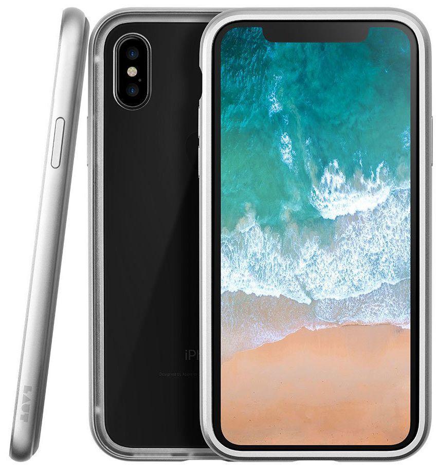 Чехол Laut Exo-Frame Apple iPhone X Silver (LAUT_IP8_EXI_SL)