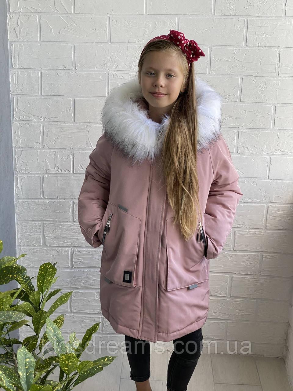 Зимняя Парка на девочку 140-158рост