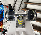 Скейт Penny Board, с широкими светящимися колесами и ручкой, Пенни борд, детский , от 5 лет расцветка Тигр, фото 3