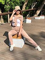 Женский спортивный костюм, худи с капюшоном и штаны размер 42-44