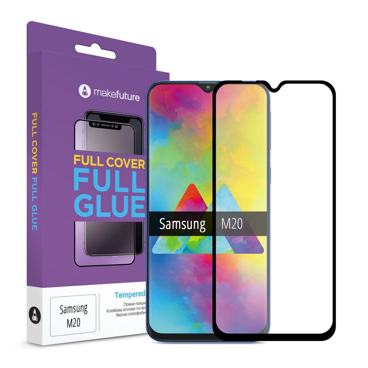 Защитное стекло MakeFuture Full Cover Full Glue Samsung M205 Galaxy M20 Black (MGF-SM205)