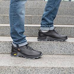 Мужские кожаные туфли спортивные 40-45 черный денвер
