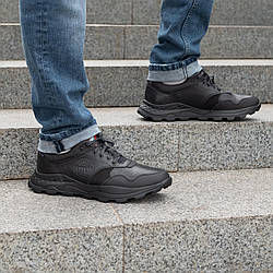 Мужские туфли кожа  спортивные   40-45 кожа денвер черный