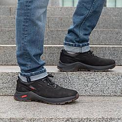 Мужские кожаные туфли спортивные   40-45 кожа нубук черный жировой
