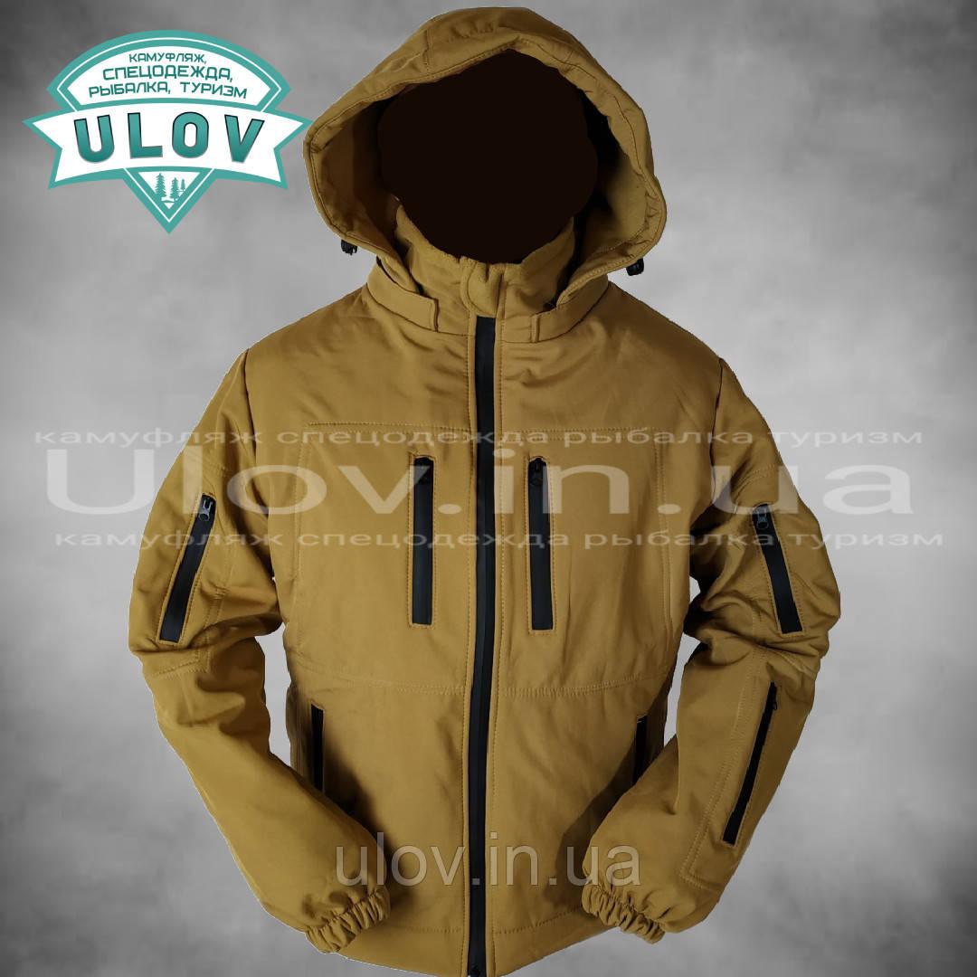 Куртка демисезонная штормовая Soft Shell (койот)