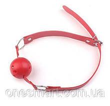 """Красный кляп с красным шаром с пластика """"Classic plastic Red"""""""