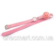 """Кляп с розовым шаром с пластика """"Plastic Pink"""""""