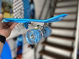 """Скейт Penny Board, с широкими светящимися колесами Пенни борд, пенниборд детский , от 4 лет, расцветка """" Рука, фото 2"""