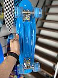 """Скейт Penny Board, с широкими светящимися колесами Пенни борд, пенниборд детский , от 4 лет, расцветка """" Рука, фото 3"""
