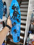 """Скейт Penny Board, с широкими светящимися колесами Пенни борд, пенниборд детский , от 4 лет, расцветка """" Рука, фото 7"""