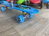 """Скейт Penny Board, с широкими светящимися колесами Пенни борд, пенниборд детский , от 4 лет, расцветка """" Рука, фото 5"""