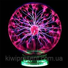 Плазменный шар Тесла музыкальный 20 см ночник / плазменная лампа / шар с молниями Plasma ball