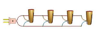 Схема з'єднання сценічних фонтанів (Як підключати фонтани сценічні)