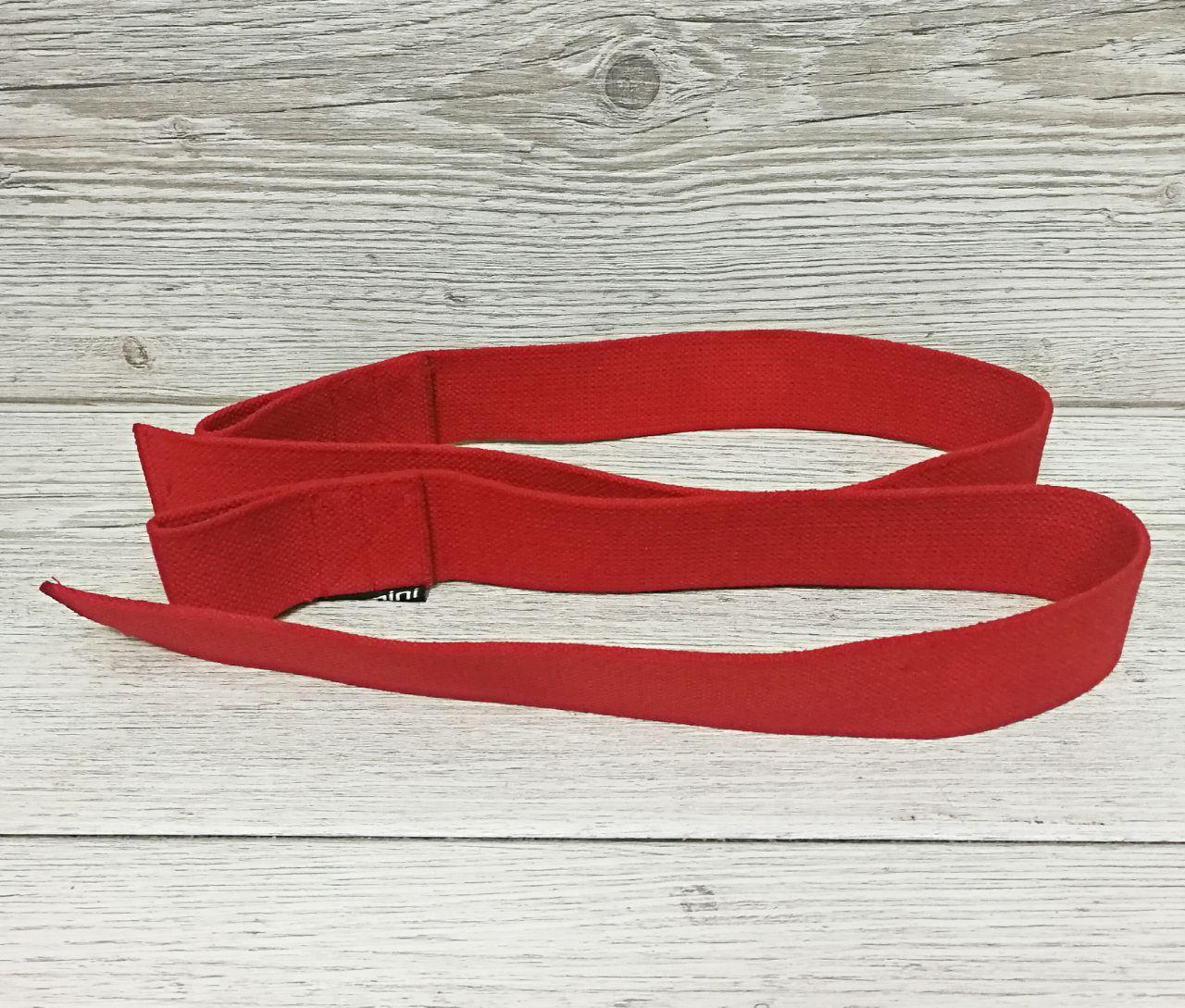 Лямки (ремни) для турника, становой тяги Premium Red (70 см) красный