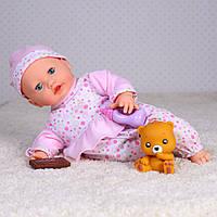 Кукла пупс для девочек, мягконабивная, музыкальная, сенсорная: поет, смеется, кушает, говорит