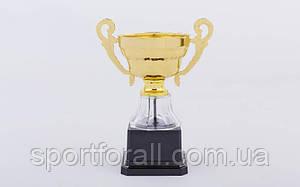 Кубок спортивний з ручками h-32 C-296С (пластик, h-32см, d чаші-20см, золото)