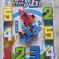 Набор трансформеров Цифры 10 штук 168-125, цифры трансформеры, набор цифры роботы