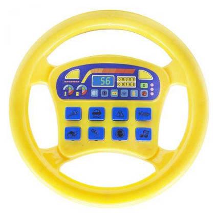 """Интерактивная игрушка """"Руль"""", жёлтый QX-1899"""