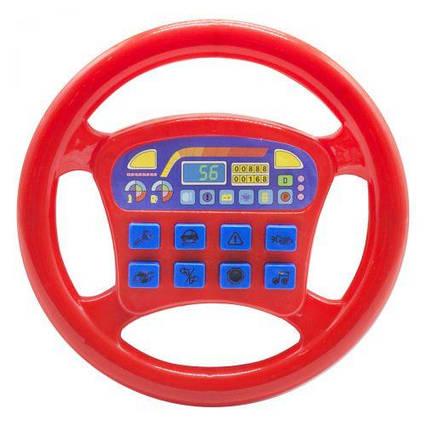 """Интерактивная игрушка """"Руль"""", красный QX-1899"""