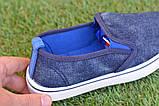 Детские джинсовые слипоны мокасины кеды синие р32-37, фото 3