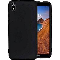 Чехол силиконовый для телефона Xiaomi Redmi 7А черный, фото 1