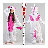Оригинальная пижама кигуруми Единорог с крылышками Розовый Пегас разер 120