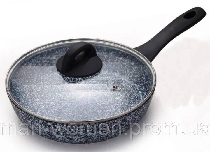 Сковорода с крышкой гранитная, 22см фирмы Edenberg EB-3437