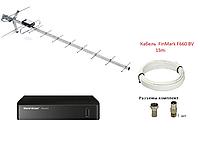 Комплект для Т2 с наружной антенной: тюнер World Vision T62M3+антенна Т2 DVB-16 ЕКО + кабель FinMark 15м