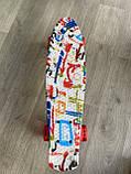 Скейт Penny Board, із широкими світлими колесами Пенні борд, дитячий , від 4 років, Абстракція, фото 3