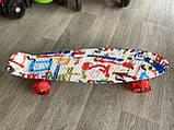 Скейт Penny Board, із широкими світлими колесами Пенні борд, дитячий , від 4 років, Абстракція, фото 5