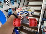 Скейт Penny Board, із широкими світлими колесами Пенні борд, дитячий , від 4 років, Абстракція, фото 6