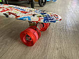 Скейт Penny Board, із широкими світлими колесами Пенні борд, дитячий , від 4 років, Абстракція, фото 7