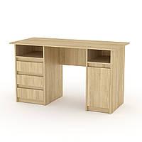 Стол письменный Декан-2 с тумбами и ящиками для студента и школьника 130х60х74 см Компанит