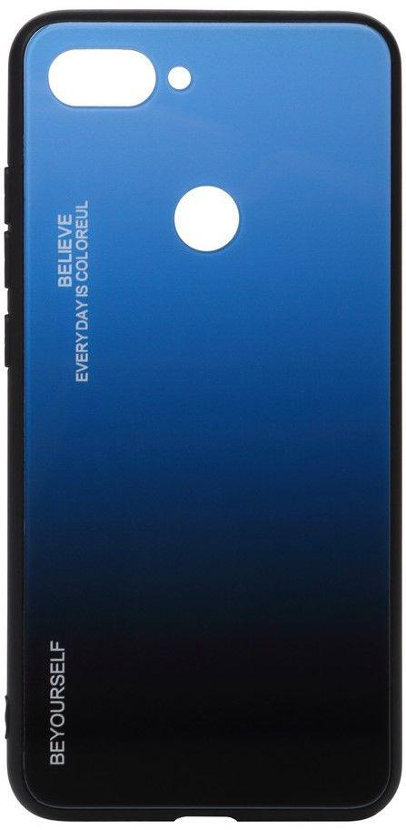 Чехол BeCover Gradient Glass Xiaomi Mi 8 Lite Blue-Black (703570)