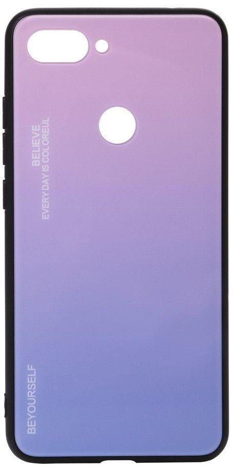 Чехол BeCover Gradient Glass Xiaomi Mi 8 Lite Pink-Purple (703573)