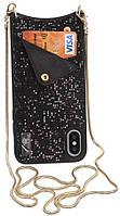 Чехол BeCover Glitter Wallet Apple iPhone XS Max Black (703621)
