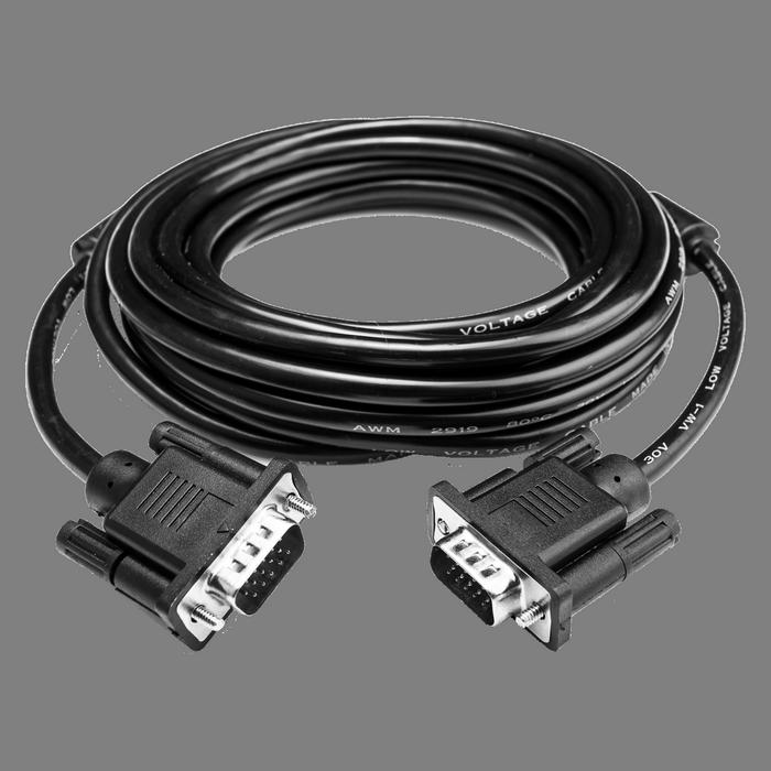 Кабель VGA 7m черный 2 феррита