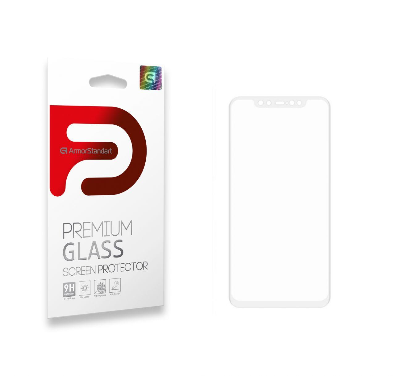 Защитное стекло ArmorStandart Full Cover Full Glue Xiaomi Mi 8 White (ARM52302-GFG-WT)