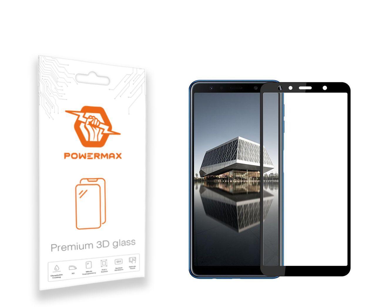 Защитное стекло Powermax 3D Premium Samsung A750 Galaxy A7 2018 Black (PWRMX3DSGA750B)
