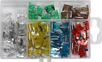 Комплект предохранителей мини-низкопрофильный 100 шт. YATO YT-83145, фото 2