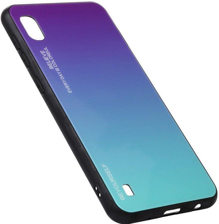 Чехол BeCover Gradient Glass Vivo Y91C  Purple-Blue (704051)
