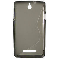 Чохол S-Line для Sony Xperia E c1505 c1605 Grey