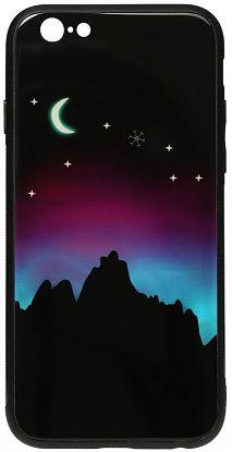 Чехол TOTO Night Light Print Glass Apple iPhone 6, iPhone 6S Young Moon (F_95994)