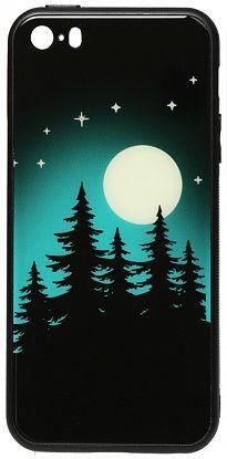 Чехол TOTO Night Light Print Glass Apple iPhone SE, iPhone 5, iPhone 5S Full Moon (F_96103)