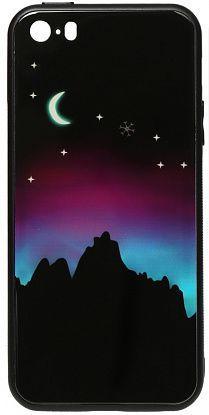 Чехол TOTO Night Light Print Glass Apple iPhone SE, iPhone 5, iPhone 5S Young Moon (F_96156)
