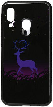 Чехол TOTO Night Light Print Glass Samsung A405 Galaxy A40 Deer (F_96086)