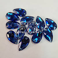 Стрази пришивні SWARO Крапля 10*18мм. Sapphire